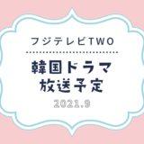 【フジテレビTWO】スカパーで2021年9月放送予定の韓国ドラマ|話題の韓流ドラマも